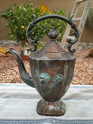 vintage gsc copper silverplated teapot