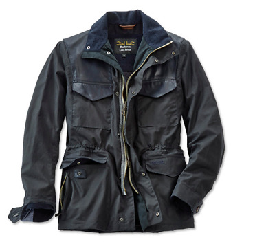 Barbour Summer Traveler  Men's Waxed Cotton Jacket - Navy, Size Large