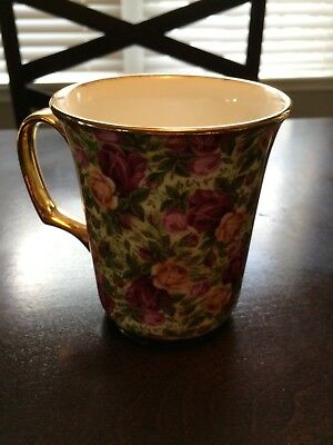 Royal Albert Old Country Roses Chintz Collection Coffee Mug Rare