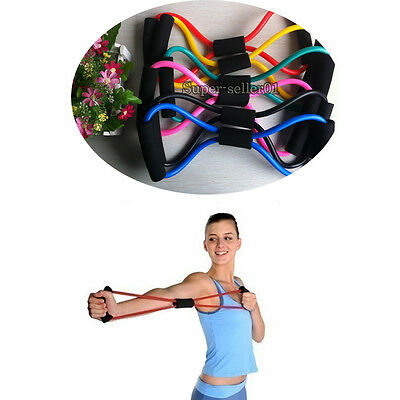 Resistance Training Sport  Muscle Yoga Bands 8-Type Fitness Equipment Rope  Good