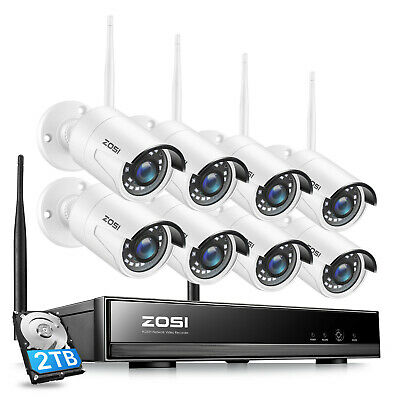 ZOSI 1080P IP 1TB  Metal CCTV Wireless Security Camera System Network NVR 3000TV
