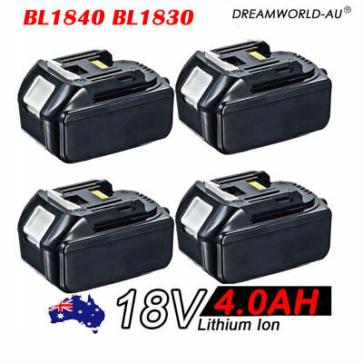 4x 18V 4.0AH Battery For Makita BL1840 BL1830 BL1815 LXT Lithium Ion Cordless AU