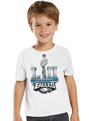 New Toddler baby kids Super Bowl LII Philadelphia Eagles Fan shirt