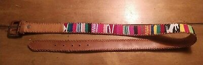 "Leather Woman's Red Brown White Yellow Purple Black Green Pink Blue 38"" Belt"