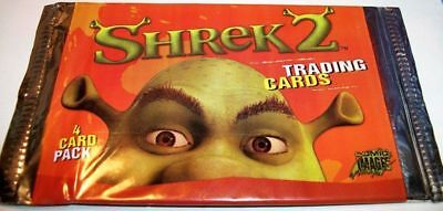 Shrek 2 Movie 4 Trading Cards Pack Sealed Comic Images 2004 Lot of 2 for $1.00