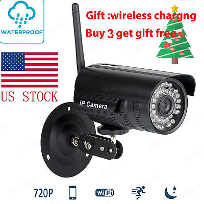 F9 Wireless WIFI Outdoor IP Camera Security CCTV Bullet Night Vision HD 720P