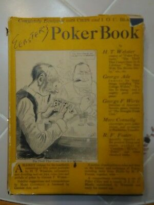 antique websters poker book 1925  rare