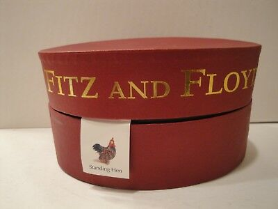Vintage Fitz And Floyd Limited Edition Standing Hen - Glass Menagerie Figurine