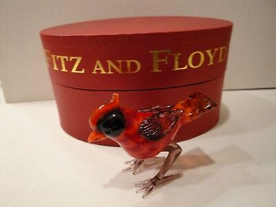 Vintage Fitz And Floyd Limited Edition Cardinal - Glass Menagerie Figurine