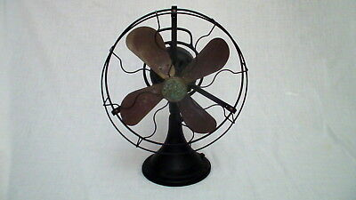 Antique Vintage Circa 1923/26 Ge General Electric 16 Oscillating Brass Blade Fan