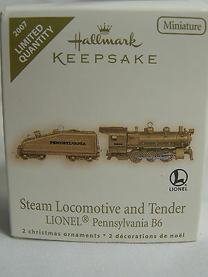 2007 Hallmark Repaint Steam Locomotive And Tender (2) Ornaments  NIB