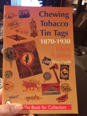 Chewing Tobacco Tin Tags 1870-1930 Book. Inscribed. Louis Storino