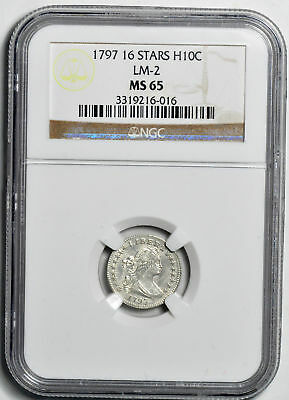 1797 Draped Bust H10C Ngc Ms 65