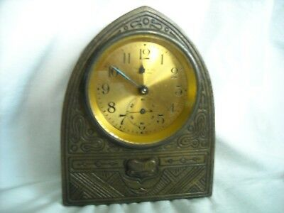 Tiffany Studios American Indian Cathedral Clock #1199.no Reserve.
