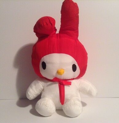 """My Melody Sanrio Red White 16"""" Puffalump Character Animal Pillow Cushion Toy"""
