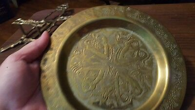 vintage brass ornate brass decorative plates
