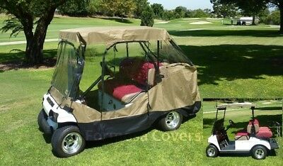 Golf Cart Driving Enclosure for 4 seater with 2 seater roof up to 152.4cm