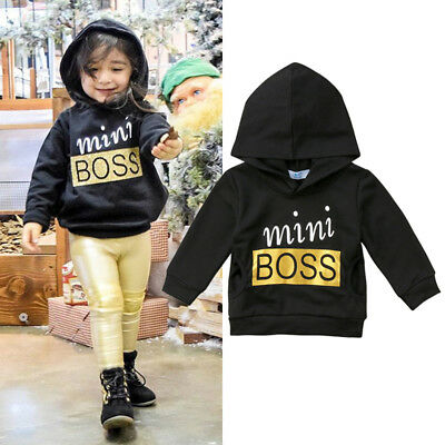 AU Stock Toddler Baby Boy Girl Hooded Tops Blouse Sweatshirt Hoodie Kids Clothes