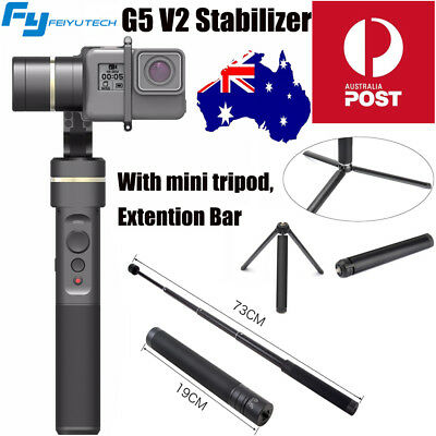 Feiyu G5 Newest V2 3-AXIS Handheld Gimbal Stabilizer+Tripod for GoPro Hero 6 5 4