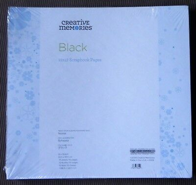 CREATIVE MEMORIES TRUE 12x12 BLACK PAGES BNIP