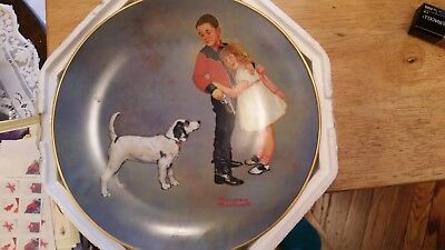 """Norman Rockwell Plate American Family Series II """"Courageous Hero"""" # 1833"""