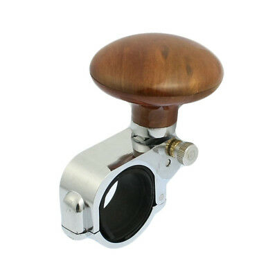 Car Power Handle Steering Wheel Knob Clamp Suicide Grip Spinner Brown A6X8