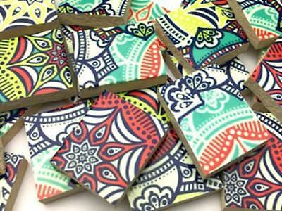 Handmade Patterned Irregular Ceramic Tiles - Mosaic Tiles Supplies Art Craft
