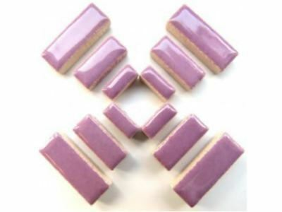 Lilac Purple Ceramic Rectangles - Mosaic Tiles Supplies Art Craft