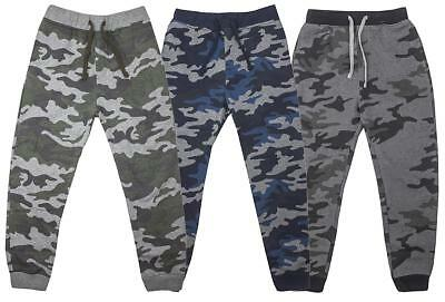 Boys Jog Pants Trousers Army Camo Camouflage Combat Bottoms Kids 3 to 14 Years