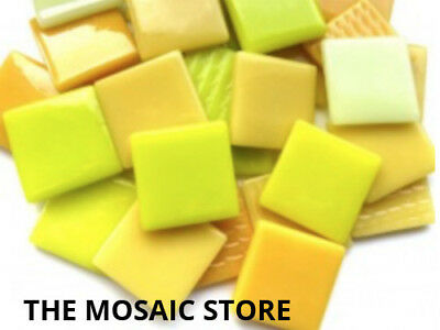 Yellow Mix Gloss Glass Tiles 2.5cm - Mosaic Tiles Supplies Art Craft
