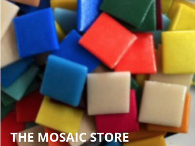 Mixed Gloss Glass Tiles 2.5cm - Mosaic Tiles Supplies Art Craft
