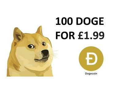 100 DogeCoin (DOGE) - Cryptocurrency