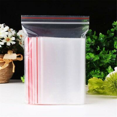 Lot Hot 13 sizes Ziplock Zip Zipped Lock Reclosable Plastic Poly Clear Seal Bags
