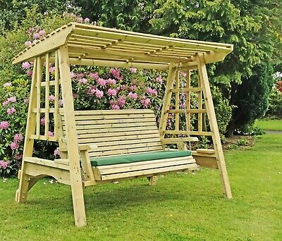 Wooden Garden Swing Adult Swing Seat Hammock Pressure Treated Solid Swing