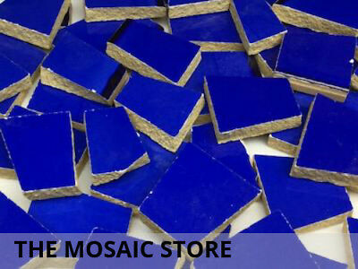 Dark Blue Irregular Ceramic Tiles for Mosaic Art & Craft