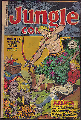 Jungle Comics #117 - Sept. 1949 - story/art by Frank Riddell & Maurice Whitman