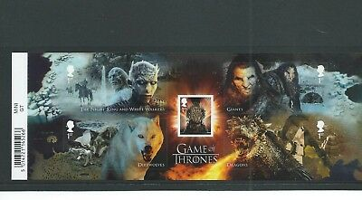 Gb Miniature Sheet - 2018 - Game Of Thrones - Unmounted  Mint