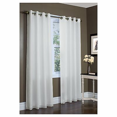 "2 Thermavoile Rhapsody Lined Sheer Drape Curtain Panel 104""x95"" Energy Efficient"