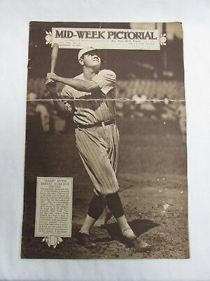 NY Times Mid-Week Pictorial BABE RUTH COVER 1921 Breaks Own Home-Run Record