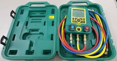 Mint Condition Refco Digimon - Digital Refrigerant Manifold Gauge w/ Case, Hoses