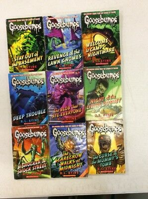 Goosebumps Set! Lot of 9 Books! Popular Kids Series! Free Shipping!