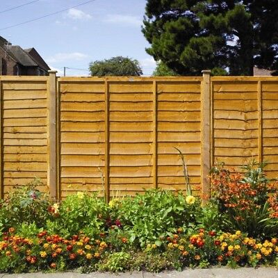 Fence Panel Wooden Fence Panels Wood Garden Fence Panels Lap Timber Fencing 6ft