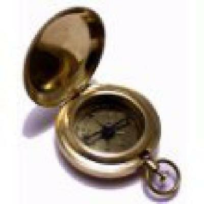 Compass Classic Pocket Antique Style Camping Brass Boy Scout Vintage Collectible