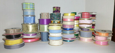 Large Lot Of Craft Bow Ribbon-Many Sizes Colors Patterns-Crafters Dream