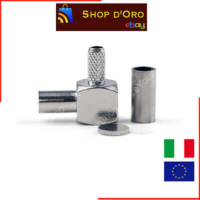 Adattatore Connettore Ts9 Crimp Plug Right Angle 90° Coaxial Adapter For Huawei