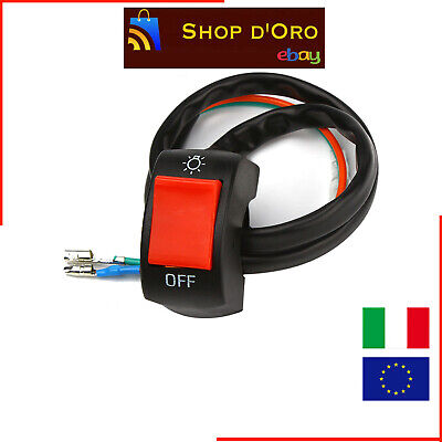 Interruttore Switch Universale On/off Per Manubrio Luci Moto New