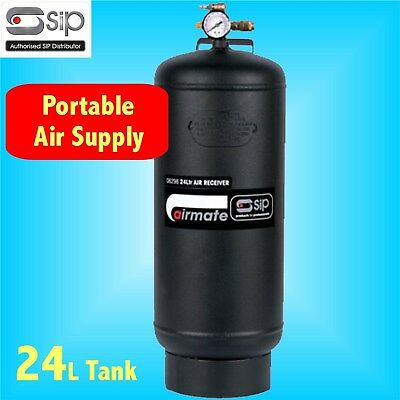 SIP 06298 24 Litre PORTABLE AIR RECEIVER 24L compressor tank remote farm garage