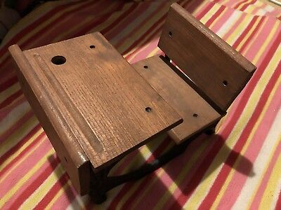 Vintage School Desk Scale Model In Wood And Wrought Iron