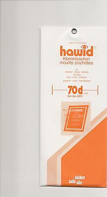 HAWID MOUNTS70 mm clear pack of 10