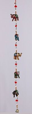 "Elephant Hanging Decor 35""L"